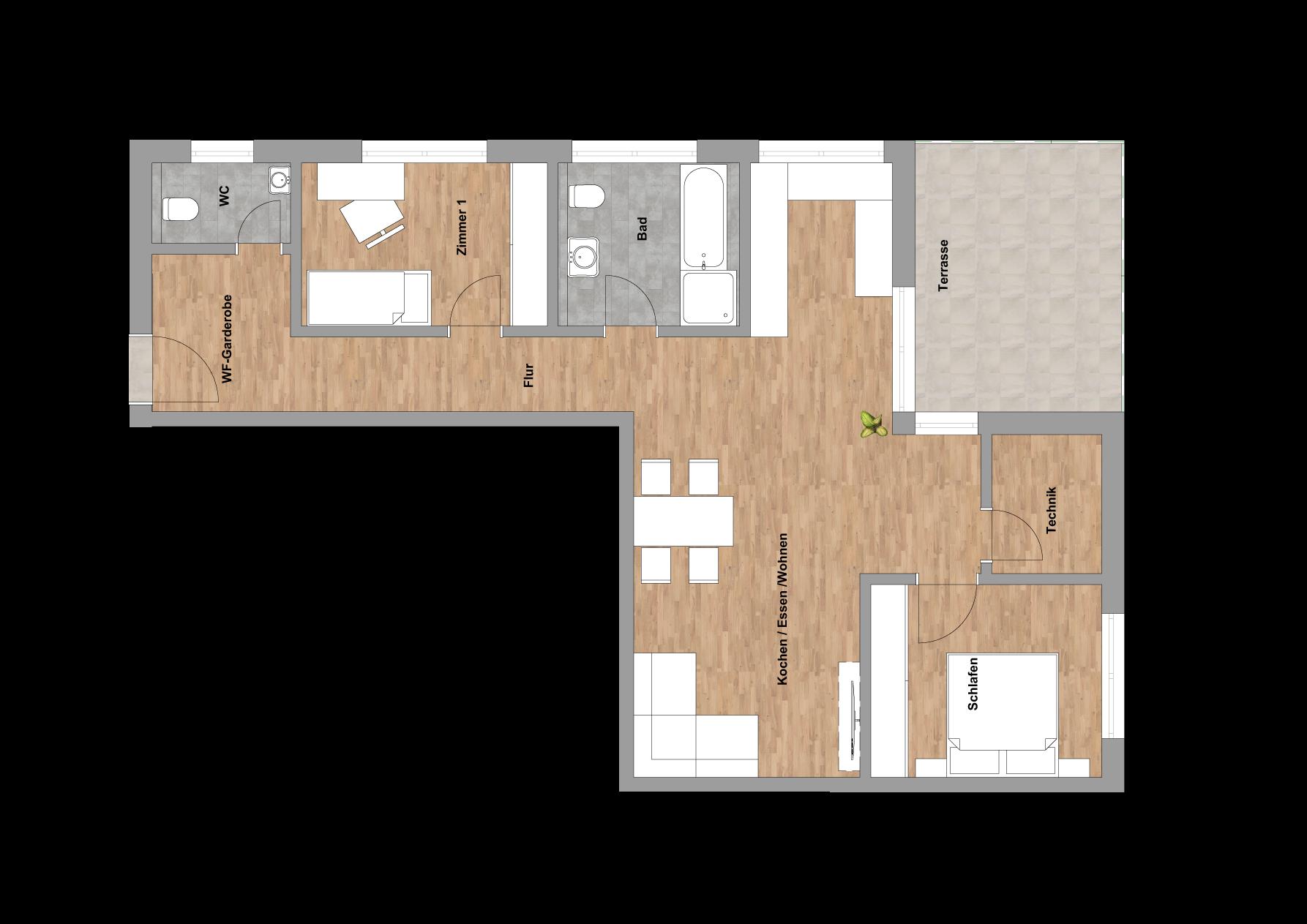 infoScout Neubau Projekt Ittersbach Wohnung 1