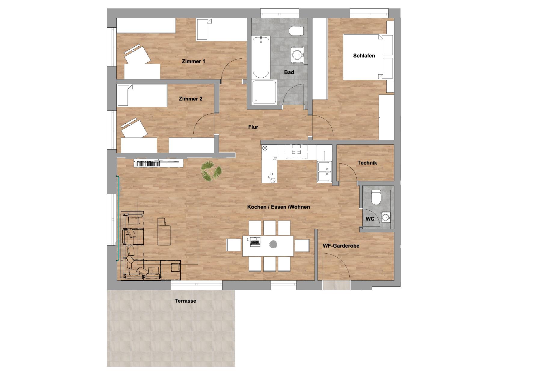 infoScout Neubau Projekt Ittersbach Wohnung 3