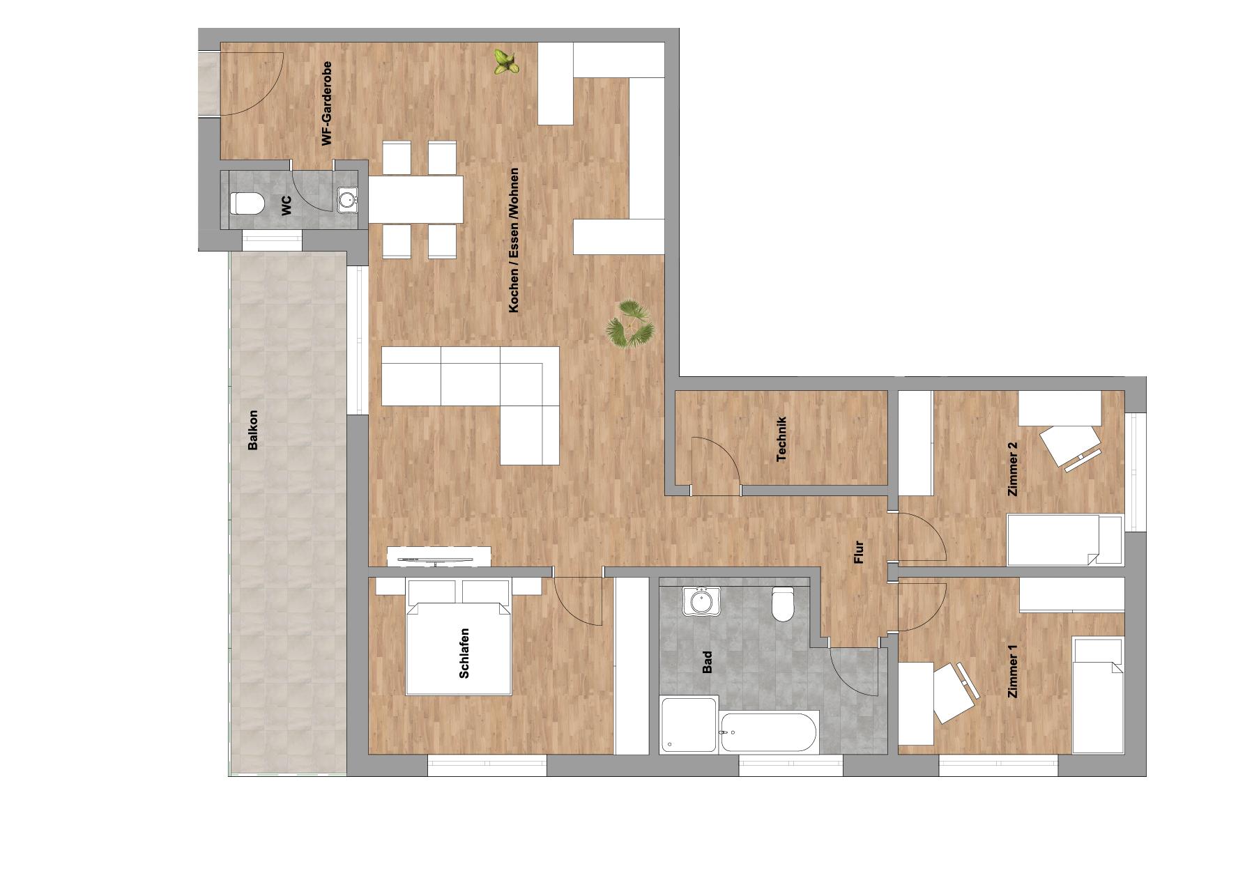 infoScout Neubau Projekt Ittersbach Wohnung 6