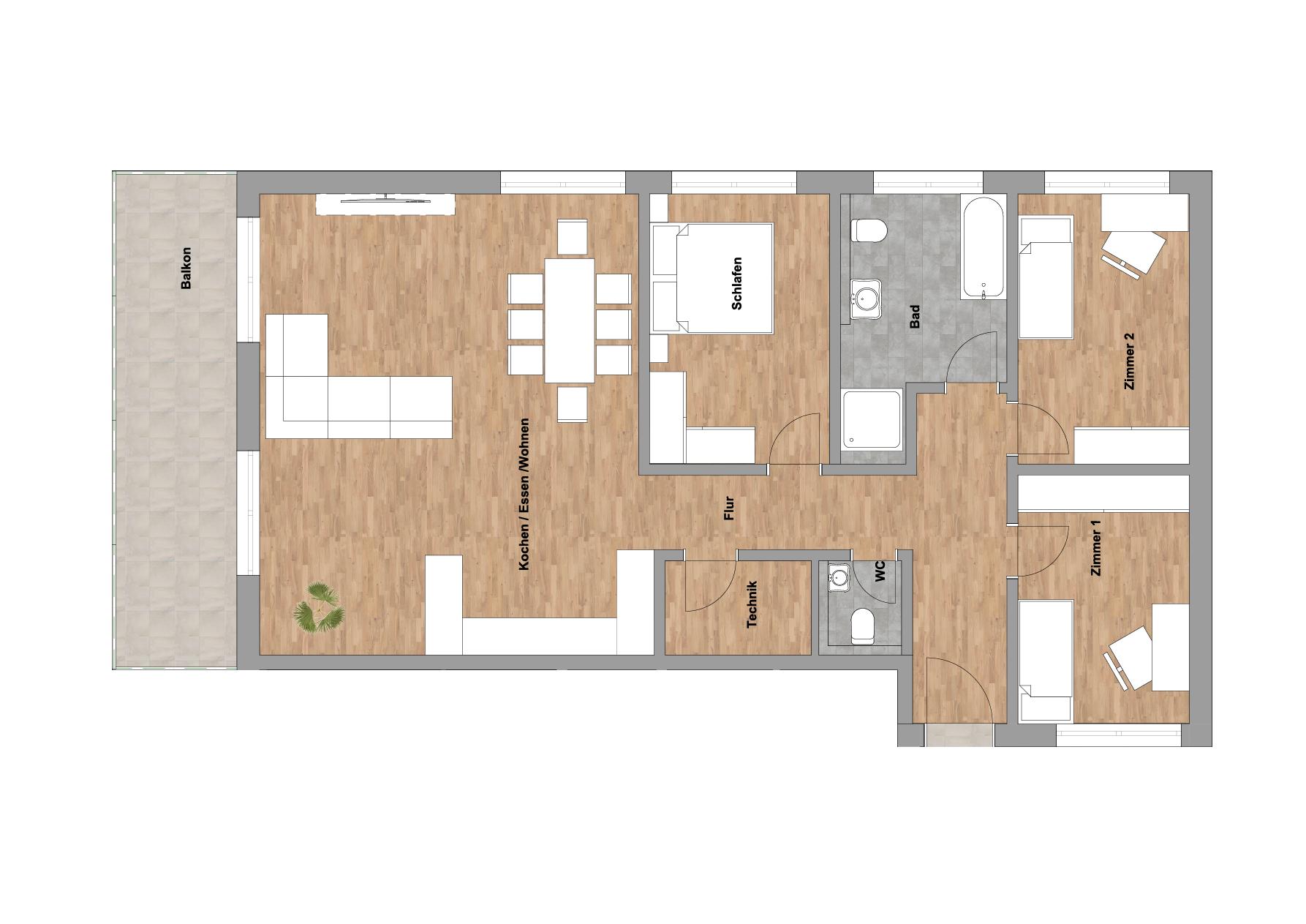 infoScout Neubau Projekt Ittersbach Wohnung 8