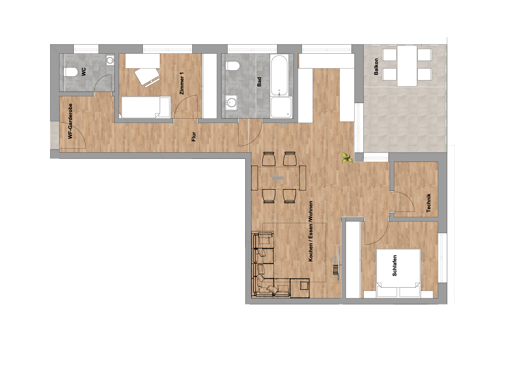 infoScout Neubau Projekt Ittersbach Wohnung 9