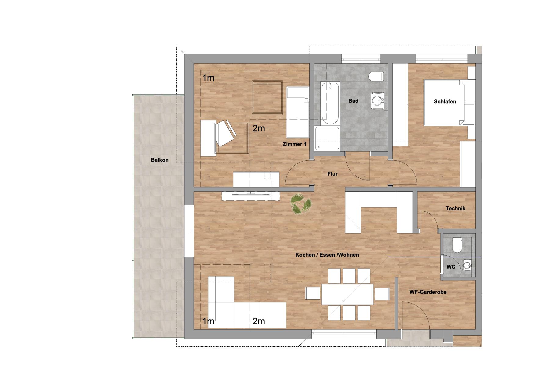 infoScout Neubau Projekt Ittersbach Wohnung 11